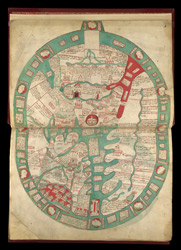 Map Of The World, In Ranulph Higden's 'Polychronicon' f.2r